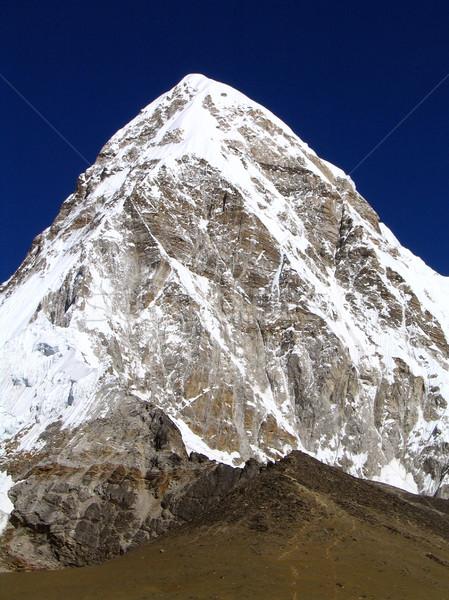 Everest kamp Nepal gün batımı ışık seyahat Stok fotoğraf © THP