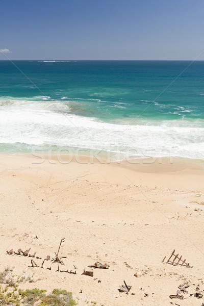 Gemi enkazı plaj kum güney avustralya deniz seyahat Stok fotoğraf © THP