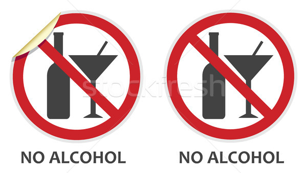 No alcohol signo signos dos vector Foto stock © THP
