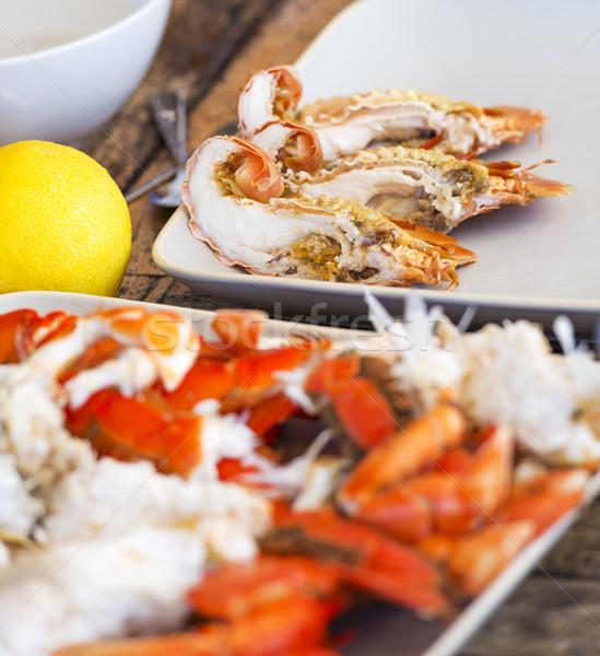 Tengeri hal Ausztrália ausztrál ebéd rák étel Stock fotó © THP