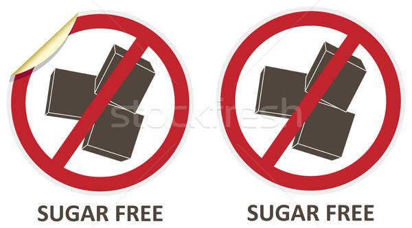 Sugar Free Icons Stock photo © THP