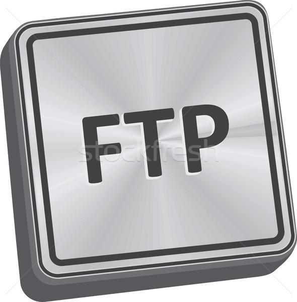 Ftp botón 3D clave metal Foto stock © THP