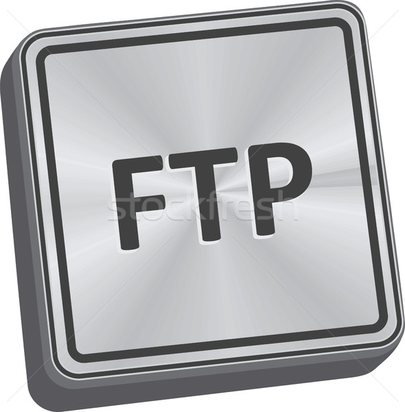 Ftp кнопки 3D ключевые металл Сток-фото © THP
