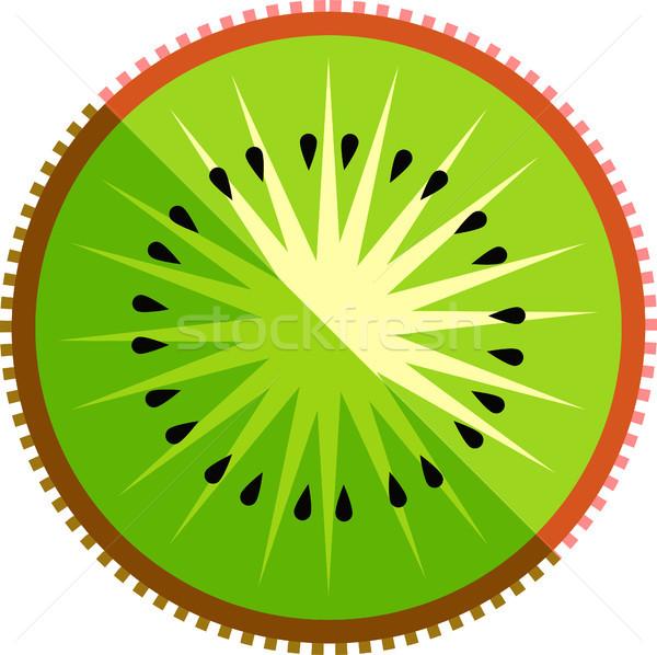 Kiwi Fruit Slice Vector Isolated Stock photo © THP