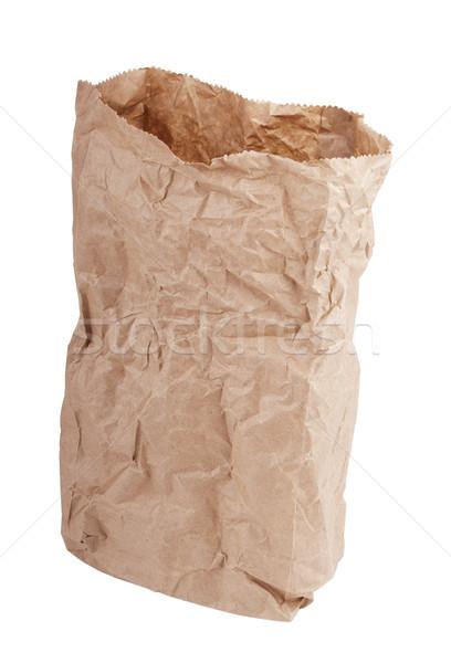Carta marrone bag isolato bianco carta sfondo Foto d'archivio © THP