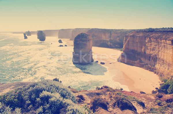Twaalf beroemd mijlpaal groot oceaan weg Stockfoto © THP