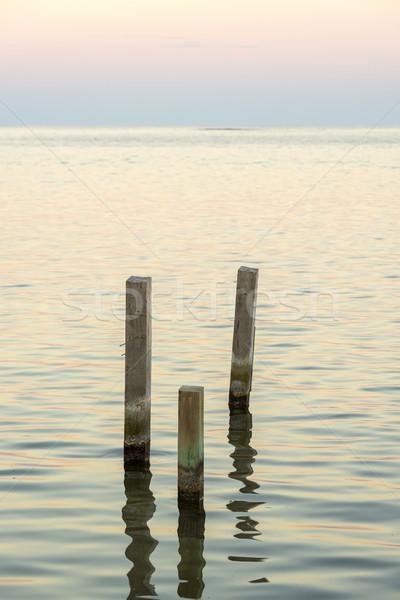 ミニマリスト 海 風景 ミニマリズム デザイン 木製 ストックフォト © THP
