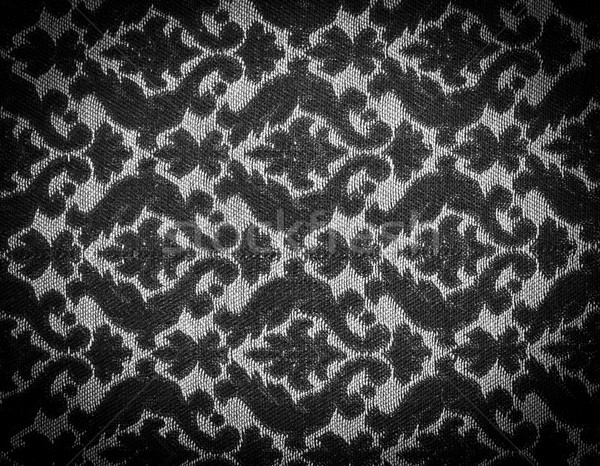 Stok fotoğraf: Bağbozumu · kumaş · siyah · beyaz · ayrıntılı · dizayn · çiçek