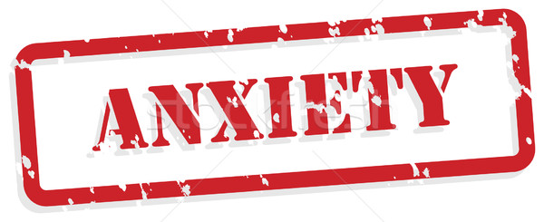 Anxiety Rubber Stamp Stock photo © THP