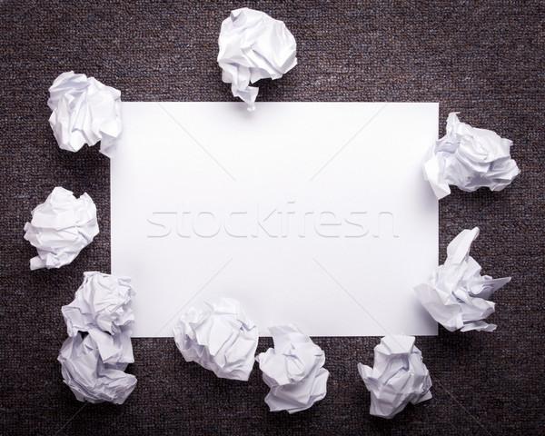 ストックフォト: 紙 · 暗い · 白 · 新鮮な · シート
