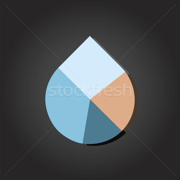 Water Drop Pie Chart Vector Stock photo © THP