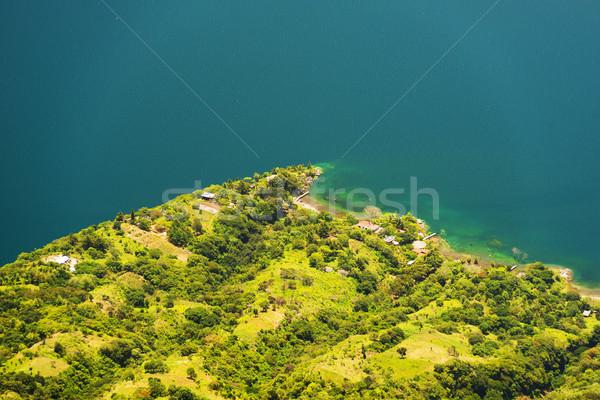 湖 エッジ 青 水 風景 ストックフォト © THP