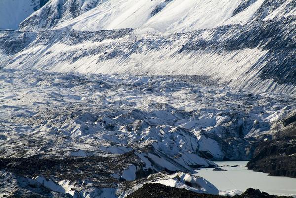 Montanas nieve hielo rock agua puesta de sol Foto stock © THP