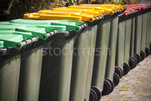 Csetepaté nagy zöld háttér piros fekete Stock fotó © THP