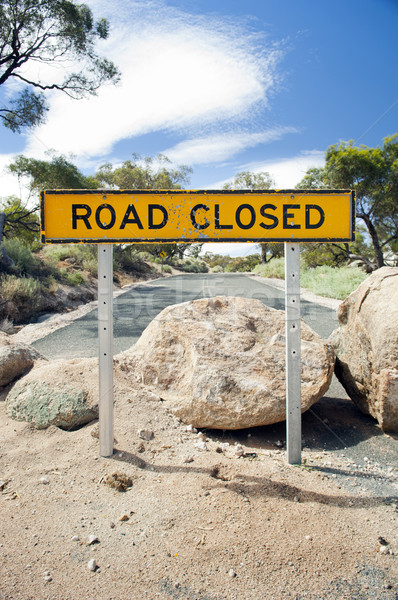 Road Closed Sign Stock photo © THP