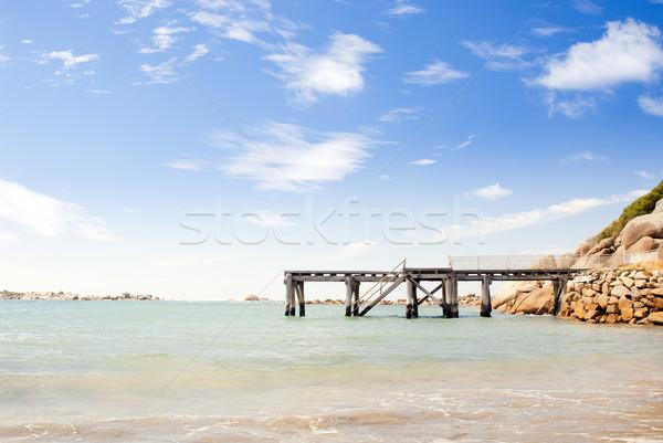 Nyár ki kék víz Dél-Ausztrália tengerpart Stock fotó © THP