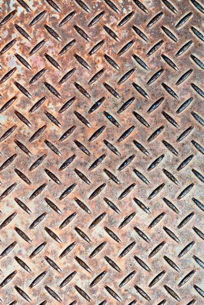 Stock photo: Checkerplate Steel