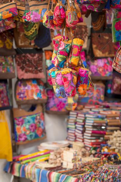 красочный рынке Мексика местный продажи Сток-фото © THP