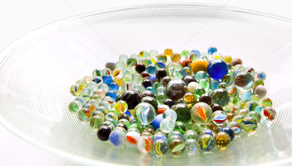 Bowl of Marbles Stock photo © THP