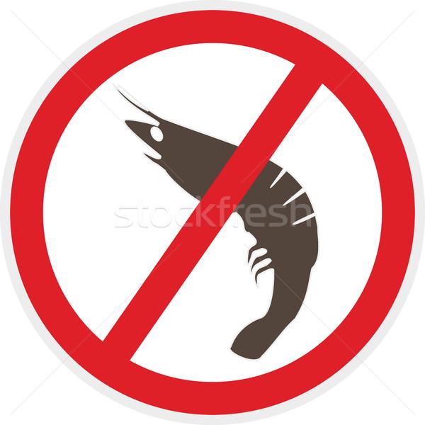 моллюск свободный икона стиль продовольствие аллергия Сток-фото © THP