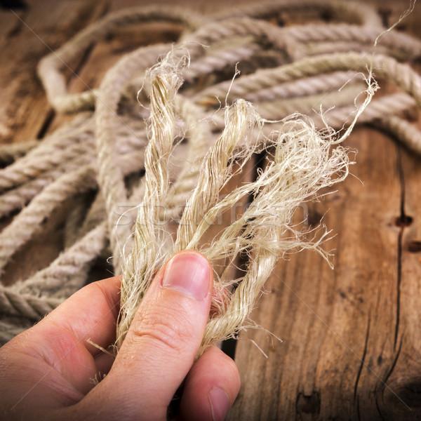 Stock photo: Frayed Rope
