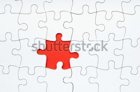 Brakujący kawałek biały tle sieci Zdjęcia stock © THP