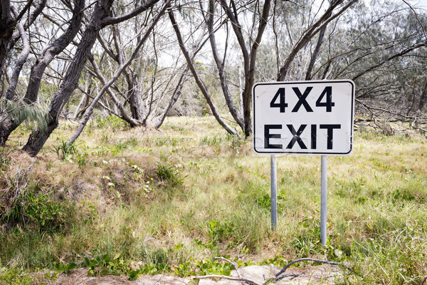 4X4 Exit Track Sign Stock photo © THP