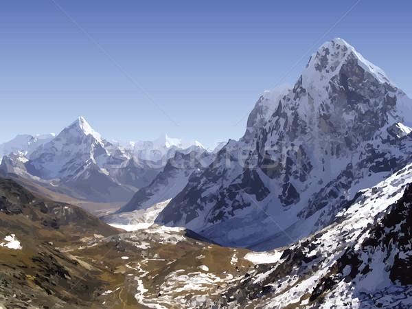 ヒマラヤ山脈 山 ベクトル 雪 山 ネパール ストックフォト © THP