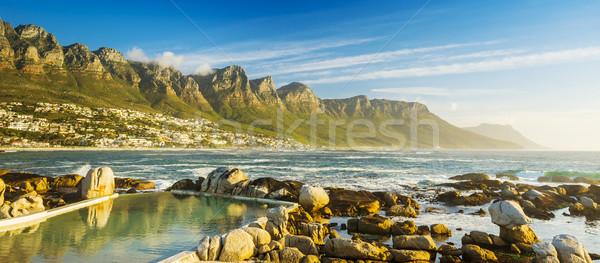 Panorama Le Cap Afrique du Sud plage ciel coucher du soleil Photo stock © THP