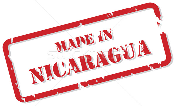 Nicaragua bélyeg piros pecsét vektor terv Stock fotó © THP