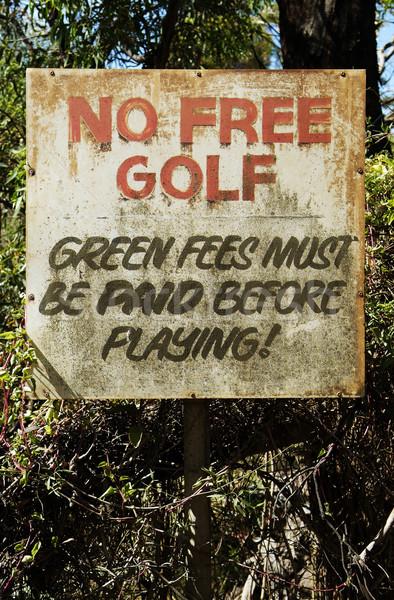No free golf sign Stock photo © THP