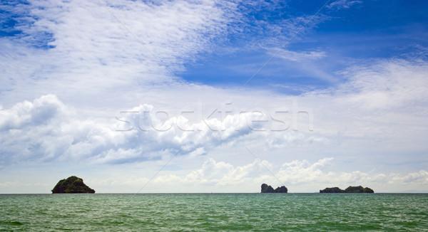морской пейзаж тропические мнение океана облака Сток-фото © THP
