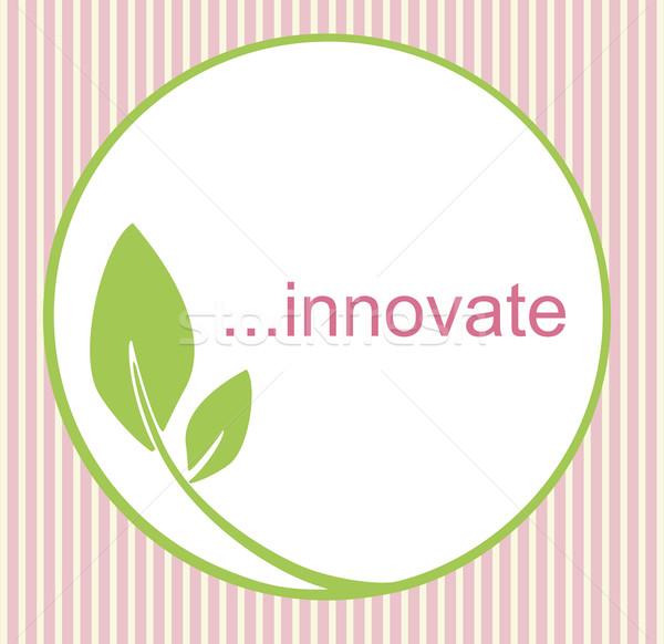 Innovatív logo friss innovatív zöld kör Stock fotó © THP