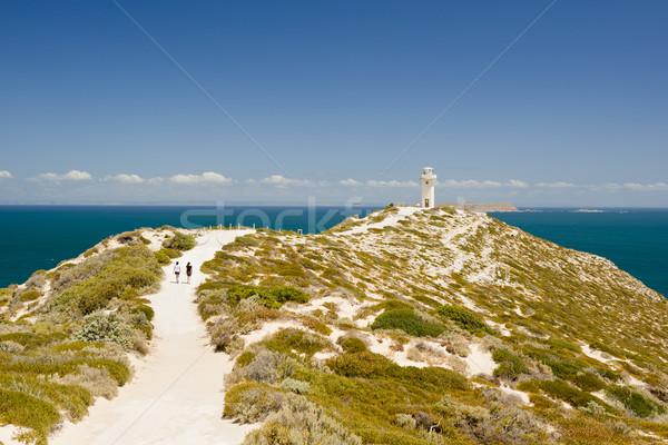 Világítótorony Dél-Ausztrália magas fölött óceán tengerpart Stock fotó © THP