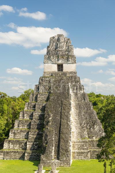 Tikal Jaguar Temple Guatemala Stock photo © THP
