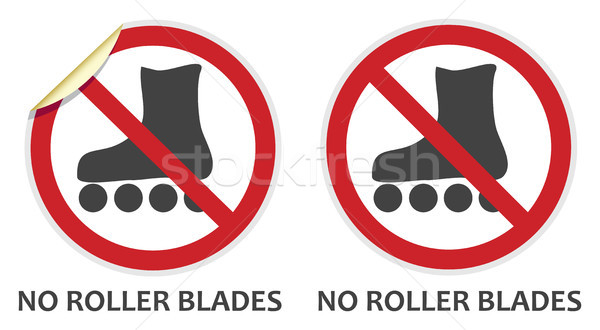 No Rollerblades Sign Stock photo © THP