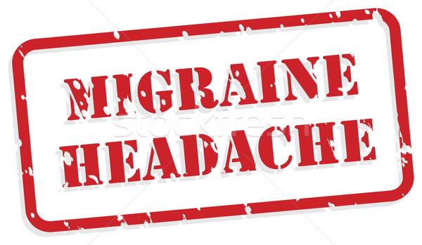 Migrena głowy czerwony wektora zdrowie psychiczne Zdjęcia stock © THP