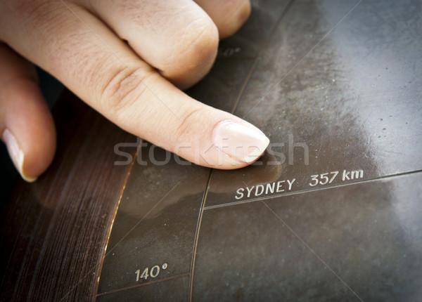 Sydney dedo senalando Australia perdido Foto stock © THP