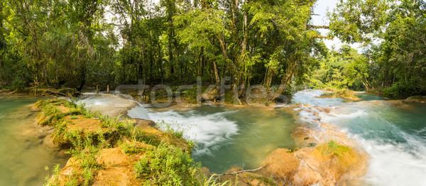 Panorama Of Agua Azul In Chiapas Stock photo © THP