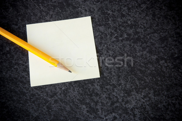 Stock photo: Yellow sticky note