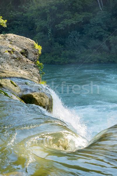 Vízesés erdő Belize víz folyik Rio Stock fotó © THP