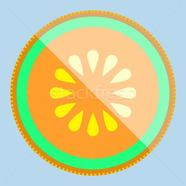 Melón vector frutas simple minimalismo arte Foto stock © THP