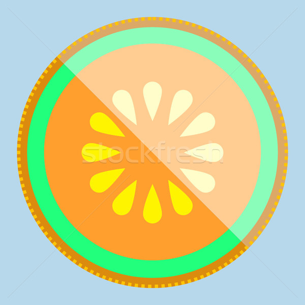 Melon vecteur fruits simple minimalisme art Photo stock © THP