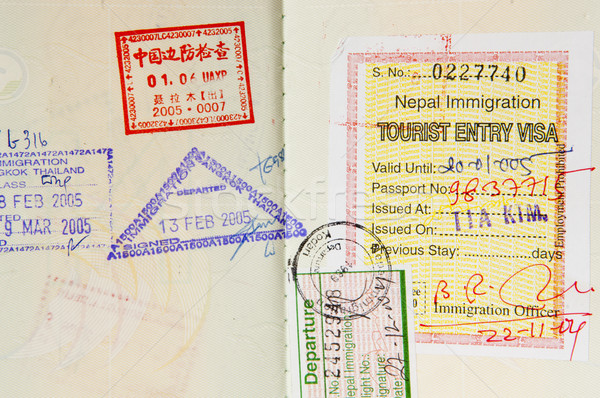 Passport Stamps Background Stock photo © THP