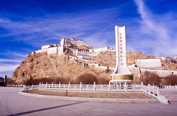 Tibet monastère élevé colline rural espace Photo stock © THP