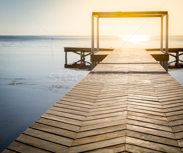 Spiritual Background Of Wooden Boardwalk Stock photo © THP