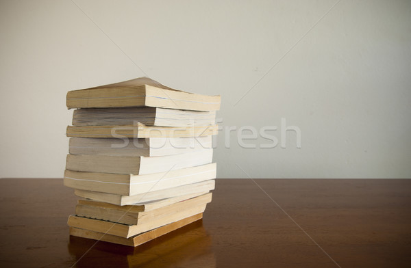 Book Stack on Table Stock photo © THP