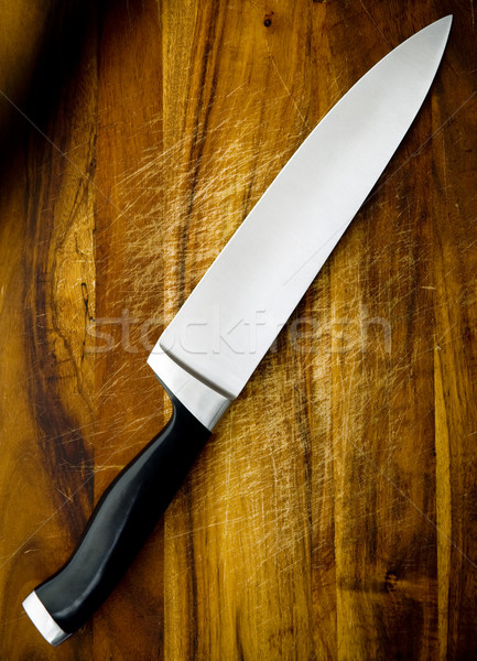 Knife on Chopping Board Stock photo © THP