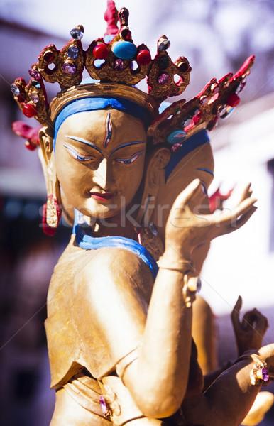 Buddhista vidéki tibet otthon Ázsia Stock fotó © THP