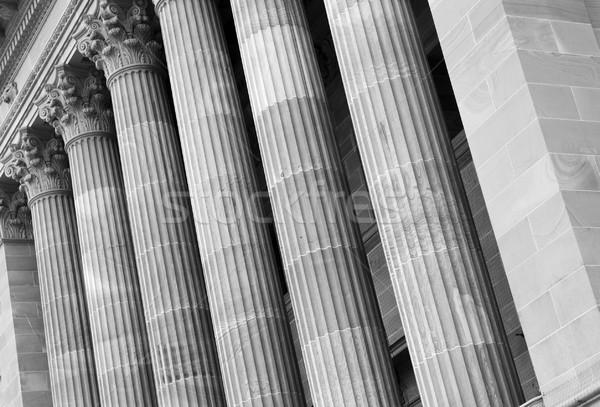 Klassiek steen symbool sterkte gebouw bouw Stockfoto © THP